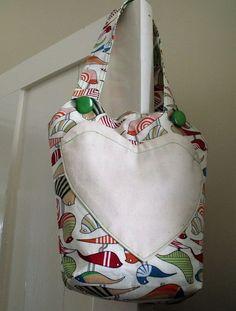 Colourful child's cotton shoulder bag £12.00