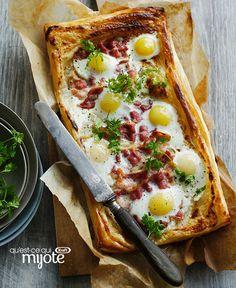 Feuilleté aux œufs, au fromage et au bacon #recette
