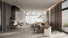 The Whale on Behance Bauhaus Interior, Interior Architecture, Room Interior, Modern Wall Sconces, Modern Floor Lamps, Japanese Interior Design, Modern Design, Minimal Design, Ethnic Decor