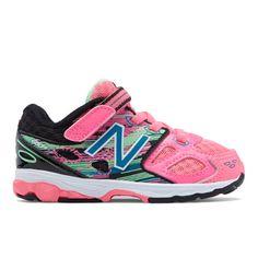 Hook and Loop 680v3 Kids' Infant Running Shoes - Pink/Black (KA680GXI)