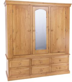 Edwardian 3 Door, 6 Drawer Wardrobe