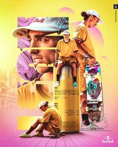 Danny León | Red Bull on Behance Sports Graphic Design, Graphic Design Posters, Graphic Design Illustration, Sport Design, Photoshop Design, Adobe Photoshop, Sports Graphics, Poster Design Inspiration, Branding