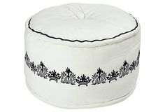 Pike Pouf, White