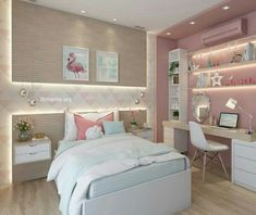 Pink Bedroom Design, Best Bedroom Colors, Girl Bedroom Designs, Bedroom Color Schemes, Girls Bedroom, Master Bedroom, Childrens Bedroom, Bedrooms, Paint Schemes