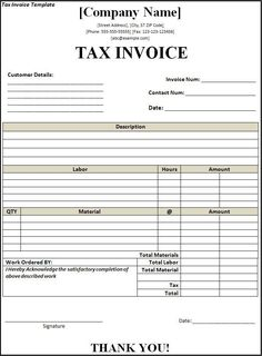 Download Excel Format of Tax Invoice in GST   GST - Goods ...