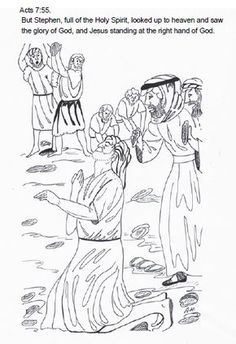 Stoning Of Stephen Sunday School Lesson Coloring Pictures