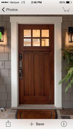 70 Best Modern Farmhouse Front Door Entrance Design Ideas images ideas from Best Door Photos Collection Front Door Entrance, Exterior Front Doors, Entry Doors, Front Entry, Wood Front Doors, Diy Exterior, Exterior Door Trim, Exterior Remodel, Wooden Doors