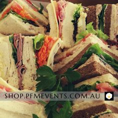 Sandwiches are perfect for corporate catering, conferences, VIP receptions wedding high teas and private events. Pre-Order Online today. from Melbourne's award-winning event & wedding caterers. Sandwich Catering, Gourmet Sandwiches, Catering Platters, High Tea Wedding, Delicious Catering, Easy Entertaining, Wedding Catering, New Tricks, Receptions
