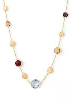 Marco Bicego 'Jaipur' Single Strand Semiprecious Necklace available at #Nordstrom