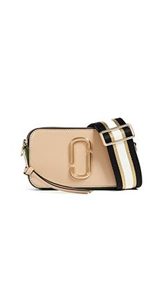 Marc Jacobs The Snapshot Leather Crossbody Bag In Sandcastle Multi Marc Jacobs Crossbody Bag, Marc Jacobs Bag, Marc Jacobs Snapshot Bag, Beige Outfit, China Fashion, Day Use, Clutch Bag, Leather Crossbody, Shoulder Strap