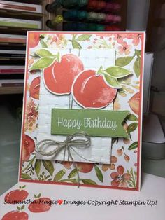 Birthday Cards, Happy Birthday, Perfect Peach, Stampin Up Catalog, Some Cards, Stamping Up Cards, Catalogue, Scrapbook Cards, Card Making