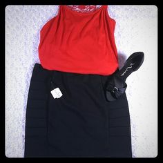 Forever 21 Black Bandage Skirt Black Bandage Mini Skirt| Brand New| Ribbed Sides| Super Cute!! Forever 21 Skirts Mini