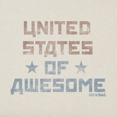 Men's United States of Awesome Crusher Tee | Life is good #DowhatyoulikeUSA