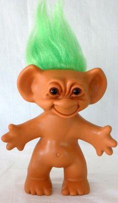 Vintage Uneeda Green Hair Wishnik Vinyl Troll 5 1/2 Inches Tall #Uneeda #Dolls