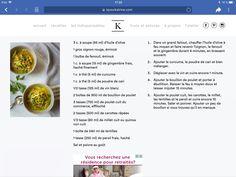 Soupe repas au poulet Fennel, Olive Oil, Tips And Tricks, Recipes