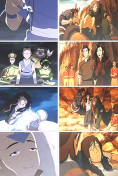 Legend of Korra/ Avatar the Last Airbender: the avatar being saved from the brink of death