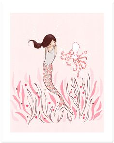 The Mermaid & The Octopus print