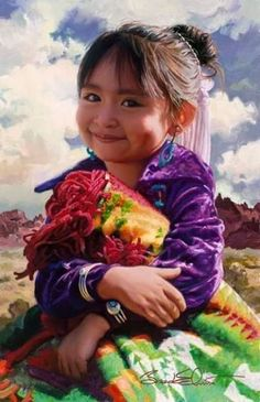 """Painting """"Navajo Smile"""" - too beautiful not to pin to Smiles board!"""