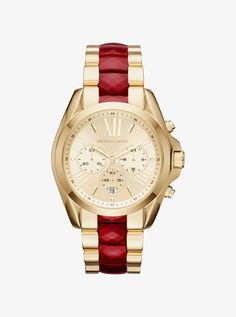 Bradshaw Gold-Tone and Acetate Watch by Michael Kors. A perfect #ChineseNewYear gift. Use your Borderlinx address at checkout for international delivery.