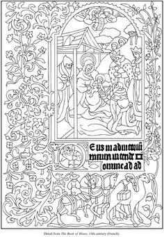 Illuminated Manuscripts Coloring Book Dover Publications