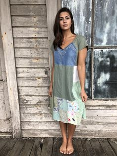 new york 3f5b7 d00dc Petra dress-medium large-artsy-Eco Clothing-Upcycled Clothing-Free People  and Anthropologie inspired-by Love HIGHER Handmade Clothing