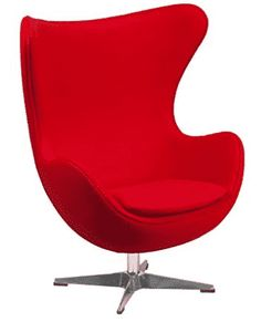 Add a distinguished look to your office or lobby for guest seating with this Flash Furniture Red Wool Fabric Egg Chair with Tilt-Lock Mechanism. Red Office Chair, Pink Desk Chair, Red Desk, Swivel Office Chair, Diy Chair, Office Chairs, Chair Upholstery, Chair Fabric, Wool Fabric