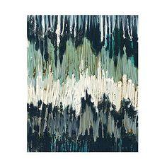 Abstract chevron wave canvas - Beach Art Prints