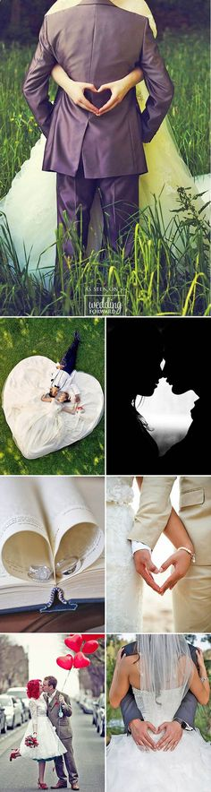24 Most Pinned Heart Wedding Photos ❤ We propose you to take a look on heart wedding photos. Everybody knows that heart is a symbol of love. But how to nicely include it to photo composition? See more: www.weddingforwar... #weddings #photography