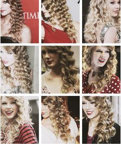 Twitter / TalentedSwift: Taylor with curly hair. ...