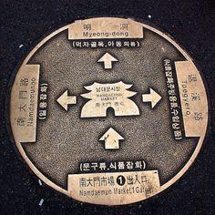 Whoa! Manhole cover as a wayfinding tool!