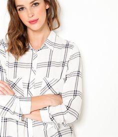 Chemise tartan à carreaux 100% coton Camaïeu 2016