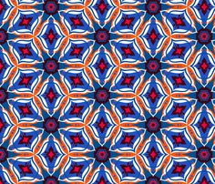 Moroccan ornament in blue fabric by tukkki on Spoonflower - custom fabric