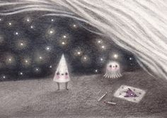 Space Cone small print by firefluff on Etsy, $13.00