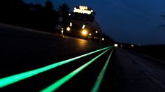 Glow in the dark road unveiled in the Netherlands. Smart