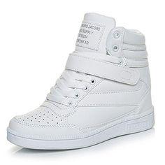 check out 17fe7 40d2e Comprar Ofertas de Mujer Clásico Zapatillas de Cuña Zapatos Deportivos Alta