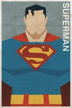 Affiches vintage de super-héros
