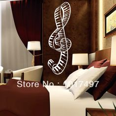 Find More Wall Stickers Information about Free shipping 100x40cm New Design Creative piano music Musical notes the treble musical notation vinyl wall decal stickers,Y1004,High Quality piano key stickers,China sticker diamond Suppliers, Cheap stickers opel from walls tale on Aliexpress.com