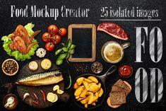 Food Mockup Creator #1 by Tatyana Sidyukova on @creativemarket