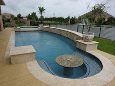 Inground Pool Designs, Backyard Pool Designs, Small Backyard Pools, Swimming Pool Designs, Pool Spa, Backyard Plan, Backyard Patio, Swimming Pools Backyard, Pool Landscaping