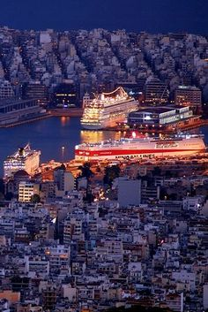 The Port of Piraeus, (near Atene)Attica, Greece Beautiful Islands, Beautiful World, Beautiful Places, Places Around The World, Around The Worlds, Athens Greece, Attica Greece, Places To Travel, Places To Visit