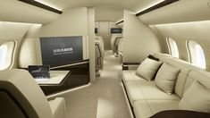 Global Express interior- The Bombardier Global Express is a large cabin, ultra long range business jet manufactured by Bombardier Aerospace in Montreal, Canada. There are currently five variants, the original Global Express, Global 5000, Global 6000, Global 7000 & Global 8000.