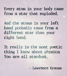We are all just stardust