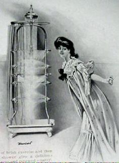 1900 Standard Plumbing ad for ribcage shower