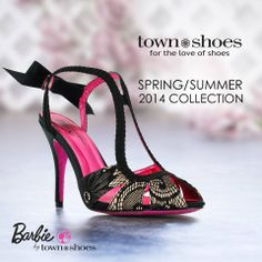 Get dolled up in the @barbie Shoe Collection Find them here: http://ts.townshoes.ca/store/townShoes/en/Categories/Women%27s/Dress-Shoes/High-Heel-Evening-/Lace-Bow-Back/p/118180204