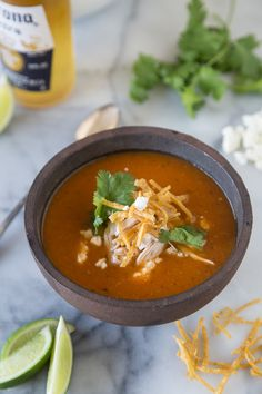 Chicken Tortilla Soup - What's Gaby Cooking