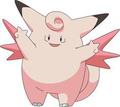 Clefable (ピクシー Pixie?) es un Pokémon de tipo normal. Es la tercera y última etapa de Cleffa. http://hechosyvidas.blogspot.pe/2016/09/clefable.html