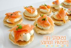 {The Organised Housewife} Mini Smoked Salmon Pikelets