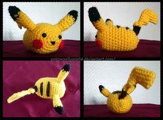 Pikachu Tsum Tsum Amigurumi by NekoWoollyWorld