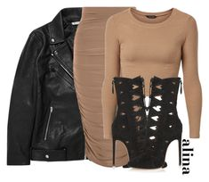 """$"" by alinahartikainen ❤ liked on Polyvore featuring T By Alexander Wang and Alaïa"