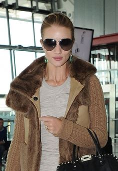 Rosie Huntington-Whiteleys slicked back bun